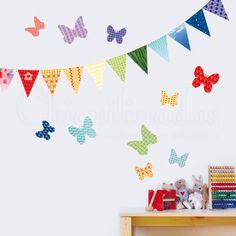 Mariposas y Banderines