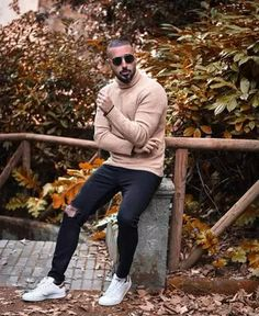Men's Outfits 2021 | Lookastic Semi Casual, Smart Casual, Casual Looks, Sweet Style, My Style, Black Leather Biker Jacket, Shirt Jacket, Well Dressed, Nice Dresses