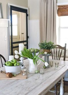 I like the color of the table top. The Lettered Cottage traditional dining room Decor, House, Cottage Style, Home, Cottage Decor, Cottage Design, Cottage Dining Rooms, Dining Room Table, Door Inspiration