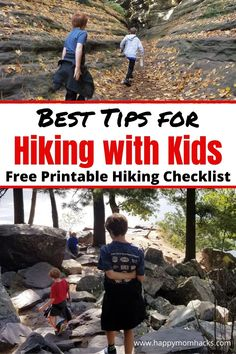 How to Have Fun Hiking with Kids. Clever tips & tricks to make hiking state parks, national parks, or local preserves with kids a fun day out. Use our free printable hiking checklist to make sure you have everything you need and the free printable nature scavenger hunt to keep your kids engaged on your hike. Plus all the best hiking gear for a stress-free family day out. Family Road Trips, Family Camping, Family Travel, Best Hiking Gear, Hiking Tips, Hiking With Kids, Travel With Kids, Hiking Checklist, Treasure Hunt For Kids