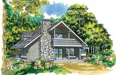 Eplans A-Frame House Plan - Vacation Cottage - 1670 Square Feet and 3 Bedrooms from Eplans - House Plan Code HWEPL06018