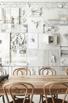 The aptly-named Hueso Restaurant, in Guadalajara, Mexico, uses animal bones as the main decorative theme for its interior. There are bones covering the walls and tables at Hueso. Restaurant Design, Architecture Restaurant, White Restaurant, Eclectic Restaurant, Restaurant Seating, Interior Design Magazine, Decoration Inspiration, Interior Inspiration, Color Inspiration