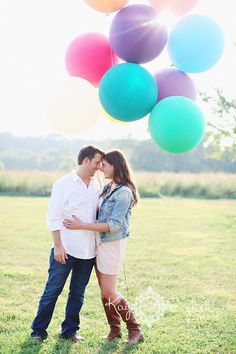 New Jersey Engagement Photoshoot with Balloons!!!