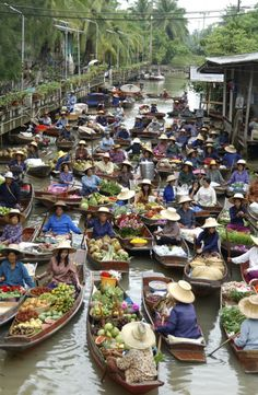 Floating Market, Thailand #travel  We can get you there! www.davisvilletravel.com