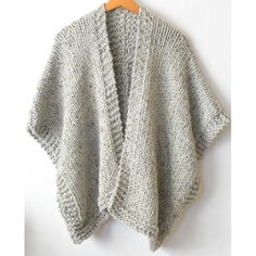 It doesn't get comfier or warmer than this cozy, beginner friendly knit kimono. Made with super bulky yarn and large needles, it works up fairly quickly and is a dream to wear on cold days. Knit Kit - Telluride Easy Knit Kimono in Easy Knitting Patterns, Knitting Kits, Free Knitting, Knitting Projects, Crochet Patterns, Shawl Patterns, Knitting Needles, Knitting Tutorials, Knitting Machine