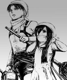 Levi and little Mikasa Attack On Titan Aesthetic, Attack On Titan Season, Attack On Titan Funny, Attack On Titan Ships, Attack On Titan Anime, Anime Girl Neko, Anime Art Girl, Anime Manga, Levi Mikasa