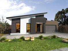 JG King Homes Cruz façade - cool and coastal, give it a 50s beach house vibe (lose the block portico)