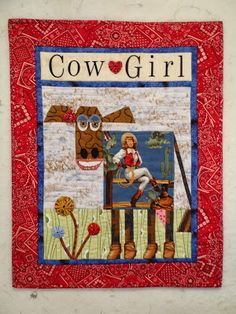 'Cow Girl' cow quilt - from Mary Lou And Whimsy Too  (Mary Lou Weidman)