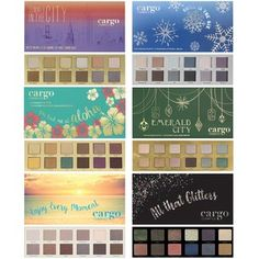 Cargo CARGO Limited Edition Eyeshadow Palette Case: A beautiful and versatile makeup accessory. Strong pigment and easily blendable. Bright Eye Makeup, Eye Makeup Art, Natural Eye Makeup, Makeup For Brown Eyes, Cute Makeup, Glam Makeup, City Cosmetics, Cargo Cosmetics, Lorac Pro Palette