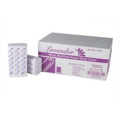 Lavender White Multifold Towels 16 Packs 250 Per Pack