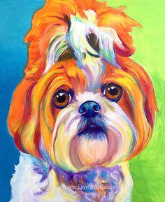 Impression de coloré Shih Tzu chien peinture par Alicia VanNoy appel. Il sagit dune impression. Original était : Acrylique sur toile. Cette oeuvre lumineuse, heureuse fera un merveilleux ajout à nimporte quelle pièce. Parfait pour un amateur de chien. Cela ferait un beau cadeau ! LIVRAISON gratuite * aux États-Unis ! Cette image est disponible en deux types de gravures : ++-Imprimés de façon professionnelle, lustre papier photo: 8 x 10, 11 x 14, 16 x 20, 20 x 30 pouces. (Pour 20 x 30, im...