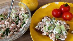 Nem tunsalat med hytteost, dild og agurk