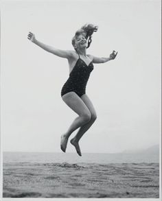 odile versois by philippe halsman Philippe Halsman, One Piece, Running, Swimwear, Bathing Suits, Swimsuits, Keep Running, Why I Run, Swimsuit
