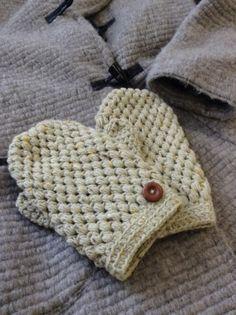 玉編みのミトン