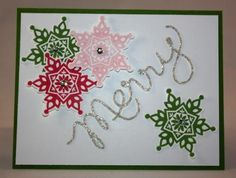 Stampin' Up! Festive Flurry Bundle - Snowflake Card