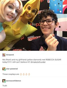 SU cosplayers are amazing, most I've seen look like they've jumped out of the show!! (Like these two)