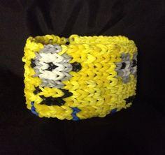 Stuart and Phil Minions cuff bracelet on Etsy, $11.00 rainbow loom