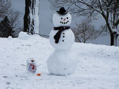 snowman and son