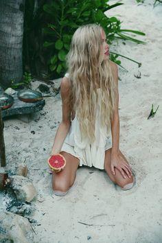 Beach babe hair