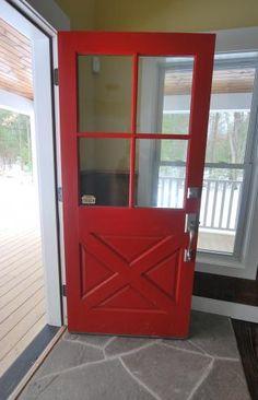 Cross Buck Door (Color: Million Dollar Red 2003 10)