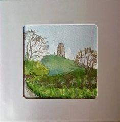 Spring In the Lane (sold)  Glastonbury Tor Watercolour