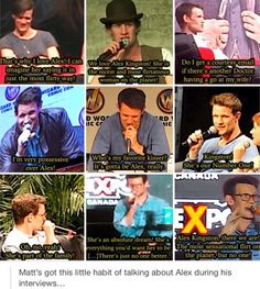 "Matt Smith on Alex Kingston--Favorite part is where he says: ""I'm very possessive over Alex"""