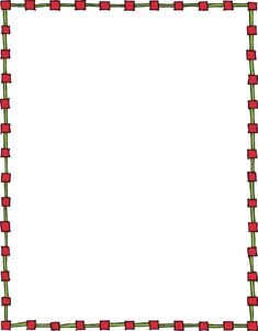 Border On A White Background Number Border Clipart Drawing ...