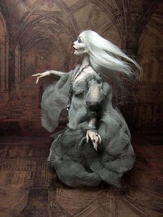 Halloween fantôme/Vampire Miniature poupée OOAK par LoreleiBlu
