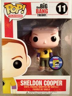 SDCC 2012 EXCLUSIVE FUNKO POP VINYL SHELDON COOPER FIGURE