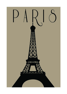 Paris Eiffel Tower Graphic Print Poster 9 x by FromStaceWithLove, $15.00