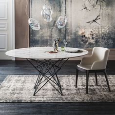 Gordon Designer Tisch aus Stahldraht von Cattelan Design Tisch, Dining Room, Dining Table, Rug Inspiration, Small Tables, Console Table, Area Rugs, Dimensions, Table Furniture