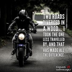 """""""Two roads diverged in a wood… I took the one less travelled by, and that has made all the difference.""""   - Robert Frost  #quotes #quoteoftheday #qotd #lifequotes #motivationalquotes #inspirationalquotes #instaquote #RobertFrost #Cogzidel #risk #road #photooftheday #instadaily #picoftheday #instacool #startuplife #entrepreneurs"""