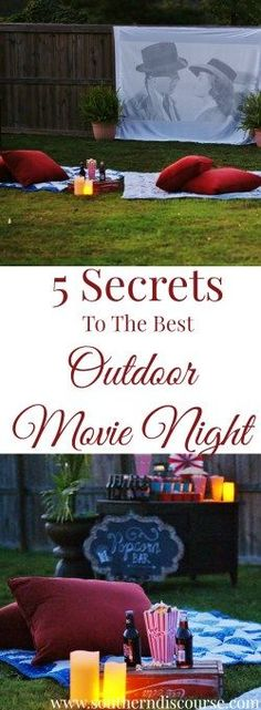 5 Secrets To Hosting The Best Outdoor Movie Night - a southern discourse