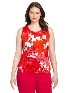 Jones New York Women's Plus-Size Printed Shell, Multi, 2X Jones New York. $64.00