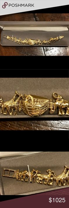 14Karat Gold/18.8 Grams Noah's Ark Bracelet  - NWT 14 karat gold Noahs Ark Bracelet - NWT - this was my mother's favorite piece of jewelry (thus refused to wear it - go figure!) who passed away in June of 2018 - and was a gift to her from my father who purchased the bracelet in March of 1995 - the receipt is included in the box. Unknown Jewelry Bracelets