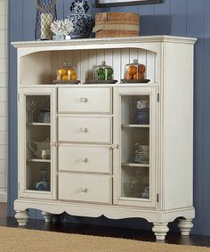Look at this Four-Drawer Pine Island Baker's Cabinet on #zulily today!