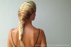 Fishtail Mermaid Braid. Click on the picture for a tutorial!