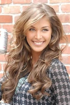 love this color... funny how when I have light brown hair I want to be blonde and when Im blonde I want to have light brown hair... Color? Beautiful color. Dont know if Id want it but Id love to do this on someone else - Click image to find more Hair & Beauty Pinterest pins