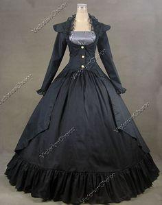 Steam Punk Coat variation with Hoop skirt