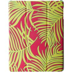 Vera Bradley iPad 4 Case with Stand (Palm Fronds) Cell Phone Case ($36) ❤ liked on Polyvore featuring accessories, tech accessories, yellow, tablet sleeve, vera bradley and vera bradley tablet sleeve