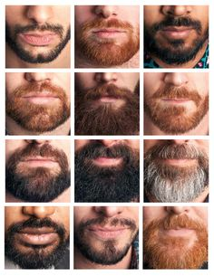 Beards -  They should've used a salt & peppered colored pic as an option for 1 of the clean cut or even slightly grown images