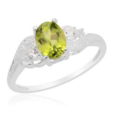 $33.95 Sz 7 - Genuine Hebei Peridot Sterling Ring MSRP  | KarmicBazaar - Jewelry on ArtFire