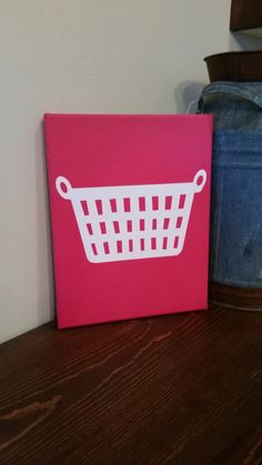 Laundry Room Basket Canvas Art - pinned by pin4etsy.com