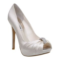 satin weeding shoes
