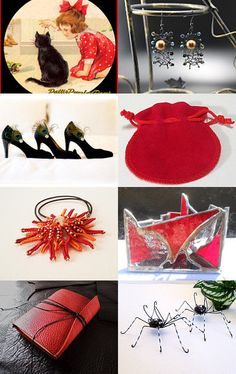Treasury 179, Red, Black and White by Natalja Gofenshefer on Etsy--Pinned with TreasuryPin.com
