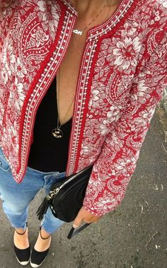 I'm not much for floral jackets but this one is kind of awesome!! ||Hot Product: High Street Boho Jacket