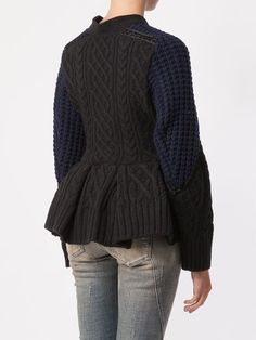 Shop Sacai cable knit cardigan in L'Eclaireur from the world's best independent boutiques at farfetch.com. Shop 300 boutiques at one address.