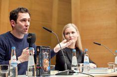 Jonathan Stroud und Judith Hoersch bei der Münchner Bücherschau #litmuc13