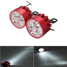 Pair 9V-85V DC 8W 1200lm LED Light Motorcycle Electric Scooter Bicycle Rear View Mirror Lamp