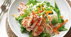 Makeover your weekly cooking repertoire with this quick and lively Thai noodle salad.